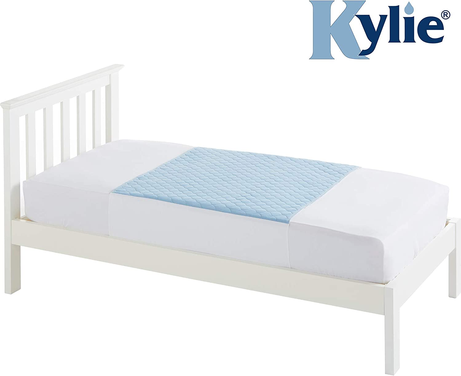 Kylie Premium Bed Pads for Single Bed, Blue, 3 Litre (Eligible for VAT Relief in The UK)
