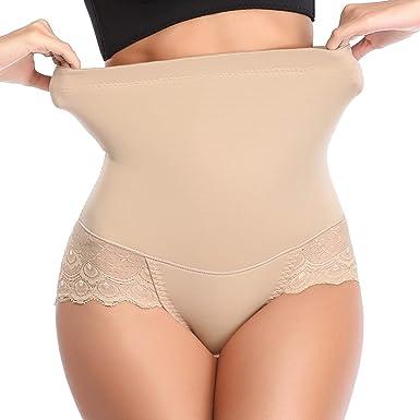 High Waist Seamless Body Shaper Butt Lifter Hip Lace Tummy Control Panties
