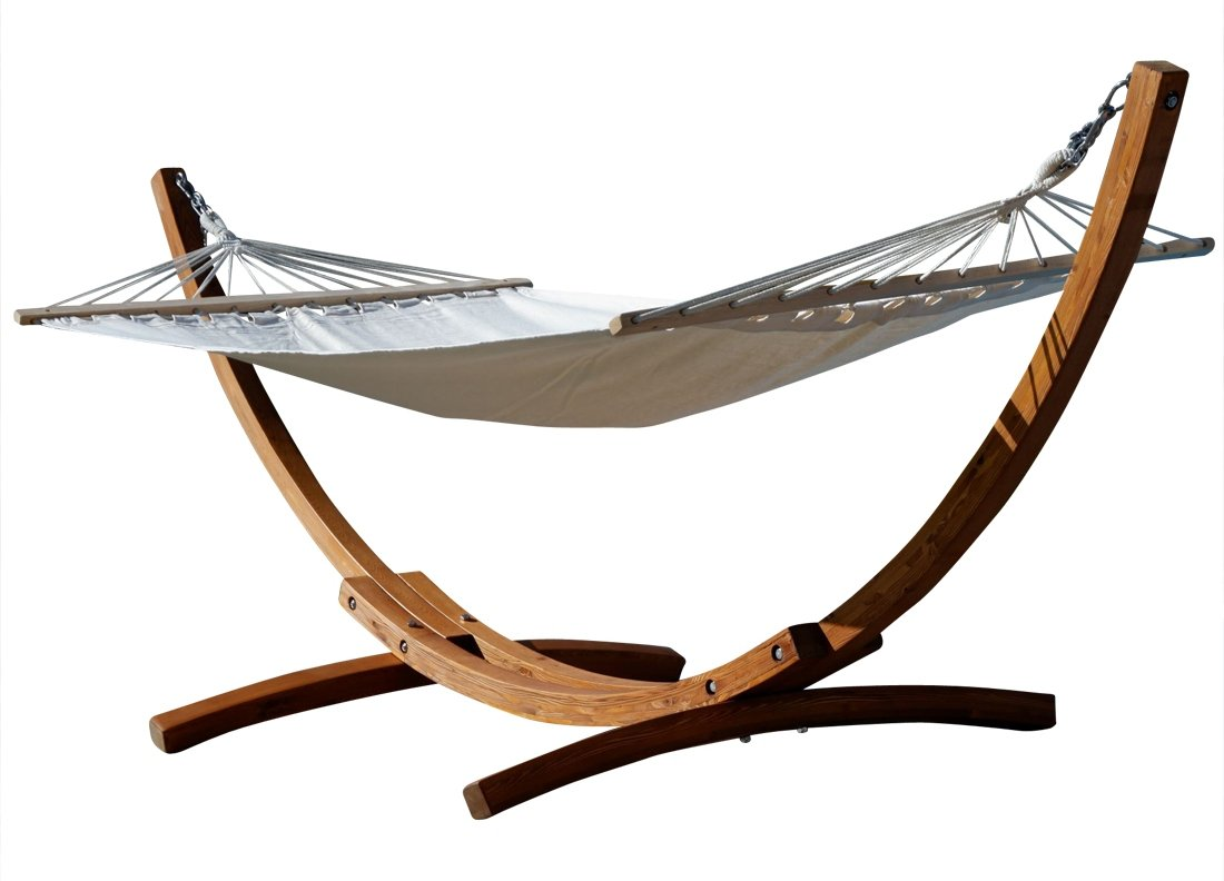 320cm Hängemattengestell ARADOS aus Holz Lärche mit Stab Hängematte von AS-S