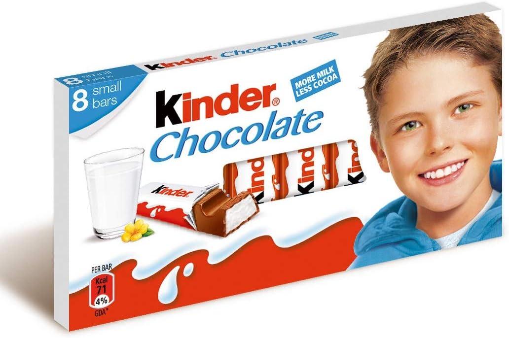 Kinder Chocolate 8 Pack 100G: Amazon.es: Alimentación y bebidas