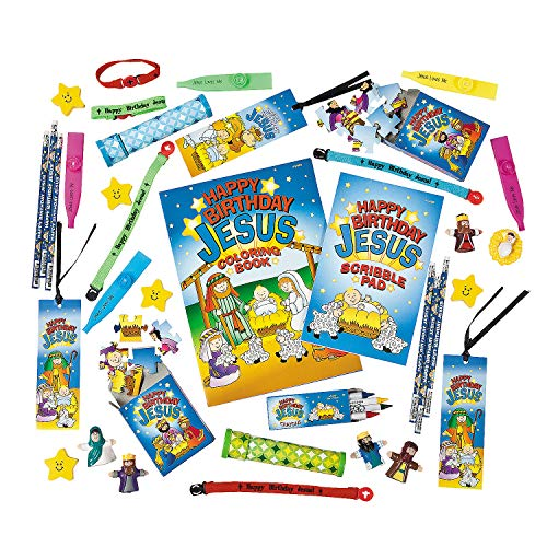 - Fun Express - Happy Birthday Jesus Novelty Asst. (50pc for Christmas - Toys - Assortments - 50Pc Assortments - Christmas - 50 Pieces