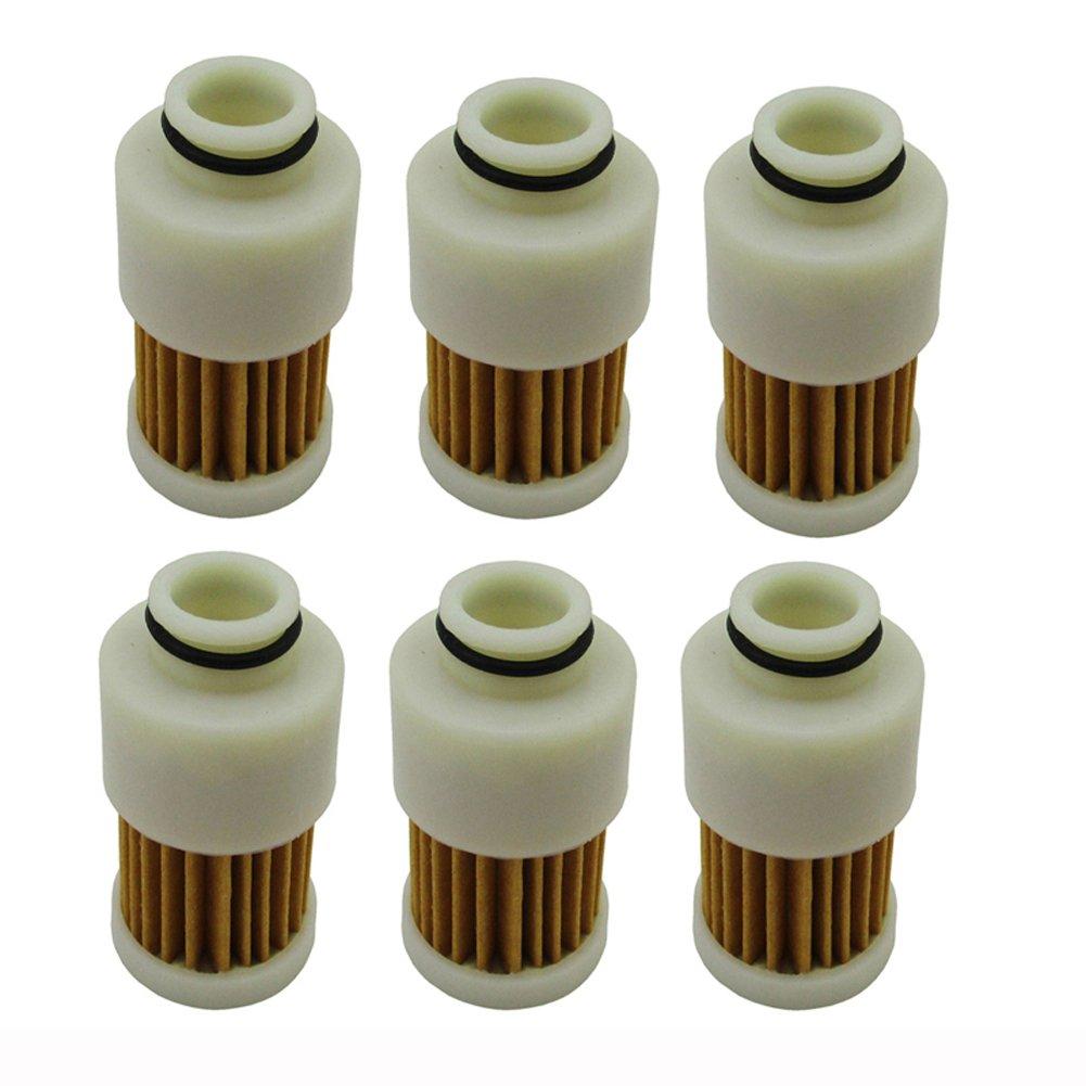 TC-Motor 6pcs/Pack Fuel Filter For 4 Stroke Yamaha Mercury Outboard Motor 68V-24563-00-00 881540