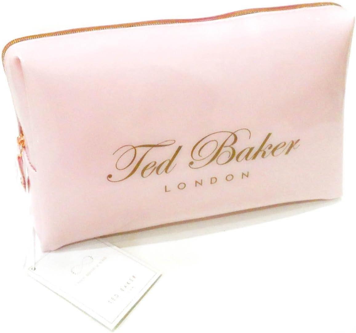 Neceser original de Ted Baker, tamaño pequeño, en color rosa pálido, ideal para maquillaje: Amazon.es: Belleza