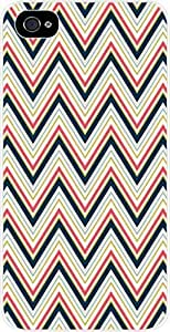 Tight Chevrons- For Iphone 5/5S Phone Case Cover Universal- Hard White Plastic
