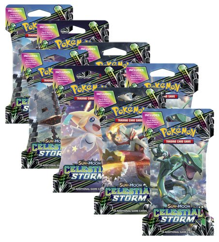 (8) x Pokemon Celestial Storm Factory Sealed Sleeved New Booster Packs! by Pokémon