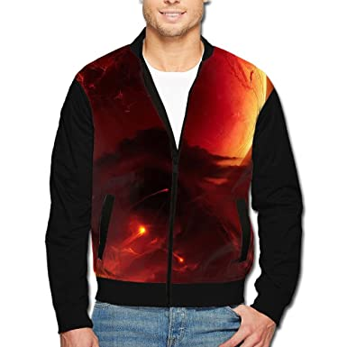 ee9644515 Men's Jacket Coat Hit The Earth Zipper up Bomber Jacket Casual Basic  Outwear Tops at Amazon Men's Clothing store: