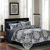 Dahlia 8-piece Bed in a Bag Set Grey (King)