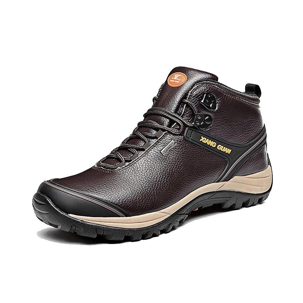 XIANG GUAN Herren High-top Leder Wasserdicht Outdoor Stiefel Trekkingschuhe Wanderschuhe Sport Camping Walking Schuhe