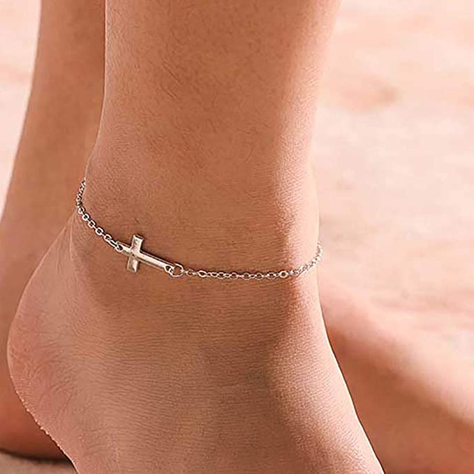 Carved Leaf Vintage Style Handcrafted Silver Overlay Anklets Size-7-8 Weight-20 Gm PG-68 For Girls.