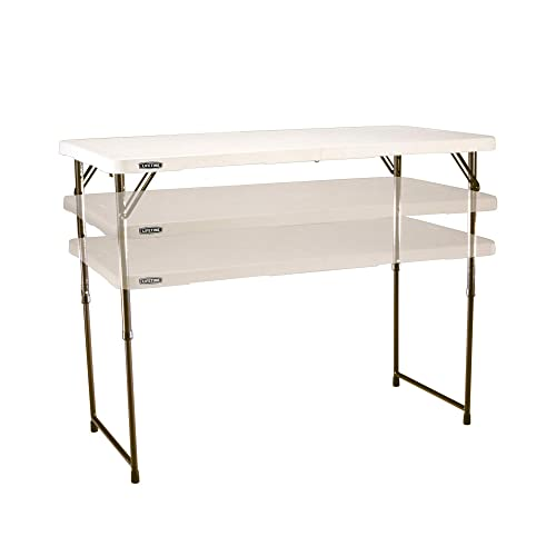 Lifetime Adjustable 4432 4-Foot Fold-In-Half Folding Table