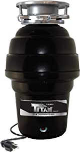 TITAN 10-US-TN-1060-3B Garbage Disposal, 1-1/4 HP - Premium, Black