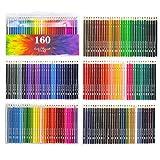 160 Art Colored Pencils,Soft Core Color Pencil Set for Adult Coloring Books Artist