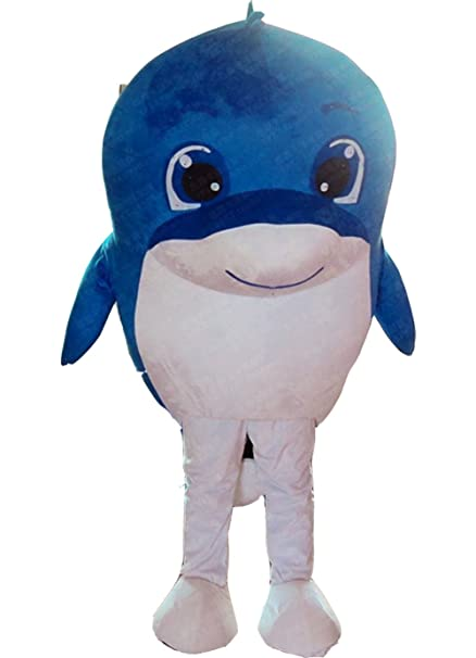 4a65a284 Amazon.com: Dolphin Whale Mascot Costume Dolphin Costume Adult Fancy ...