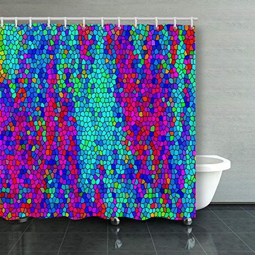 DWone Hat Shower Curtain Abstract Colored Geometric Texture Mosaic Abstract Abstract Abstract Backgrounds Textures Abstract Backgrounds Textures Decorative Bathroom Curtains