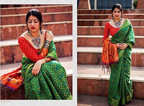 Da Facioun Saris Indiens Pour Les Femmes Concepteur Mariage Partie Portent Sari Traditionnel Vert