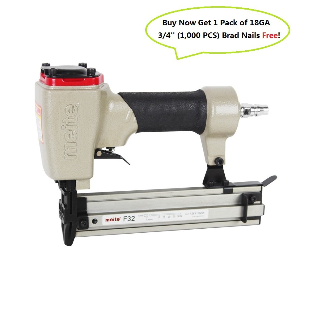 meite F32 18 Gauge 3/8-Inch To 1-1/4-Inch Brad Nailer or Finish Nailer
