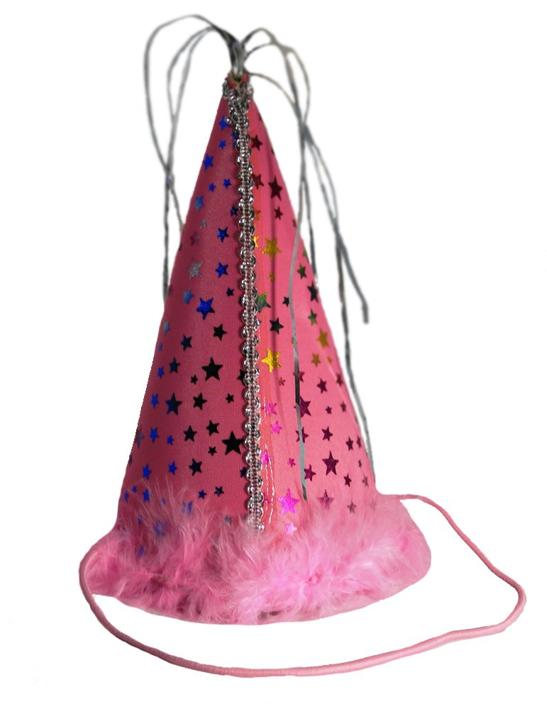 Charming Pet Party Hat for Pets, Large, Pink