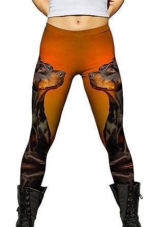 1c397049dde00 Yizzam- Doberman Pinscher Rouge -New Ladies Womens Leggings-X-Small