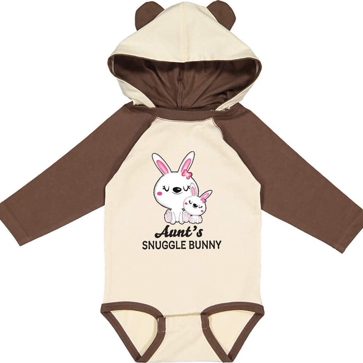 inktastic Aunts Snuggle Bunny Easter Long Sleeve Creeper