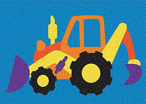 Back Puzzle (Lauri Crepe Rubber Puzzles - Backhoe (Colors may vary))