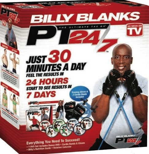 - Tae Bo PT 24/7 Billy Blanks DVDs set including B2 Bands & Gloves