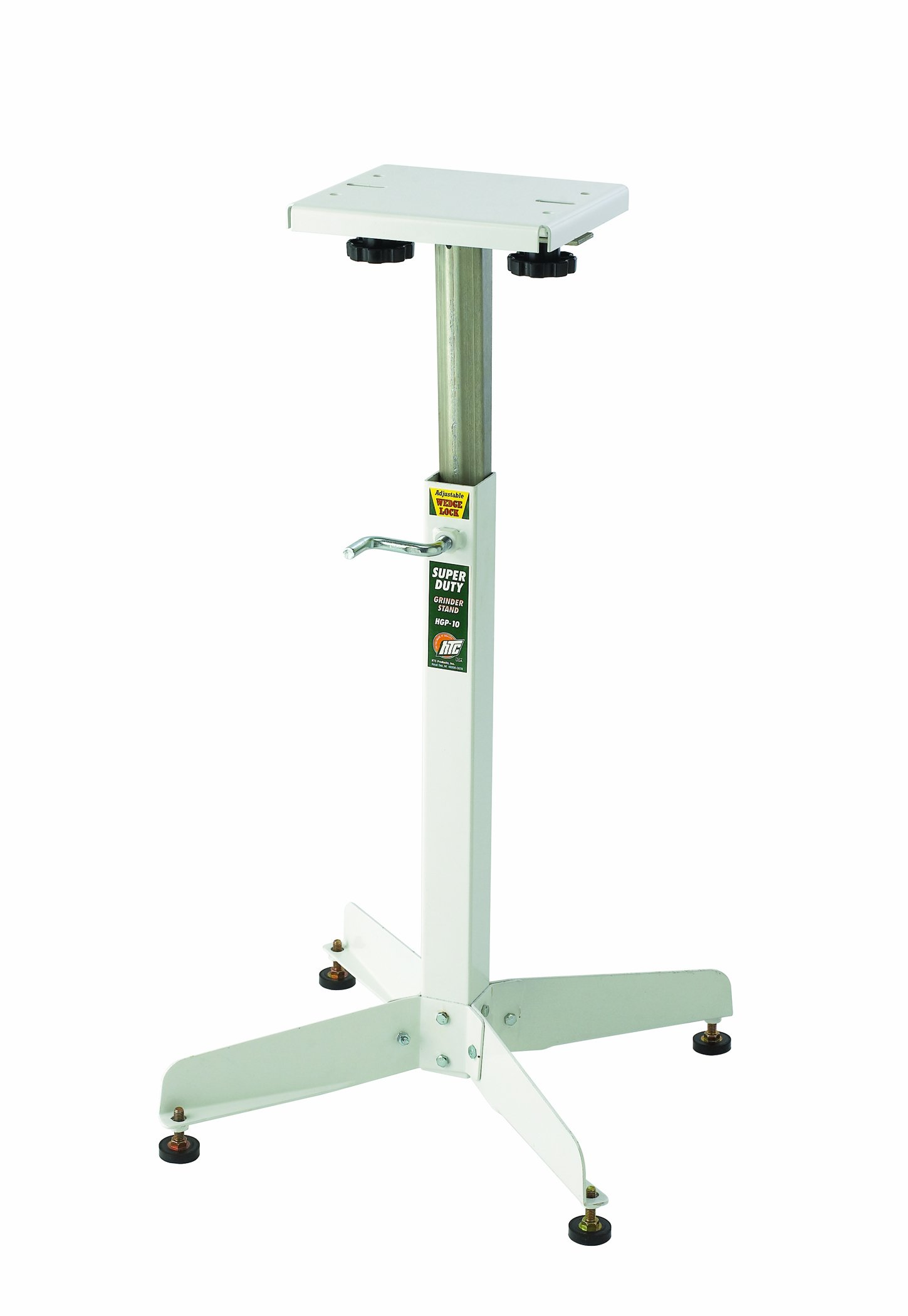 Bench Grinder Stand HTC HGP-10 Adjustable Bench Top Grinder Stand That has Rock Solid Stability by HTC
