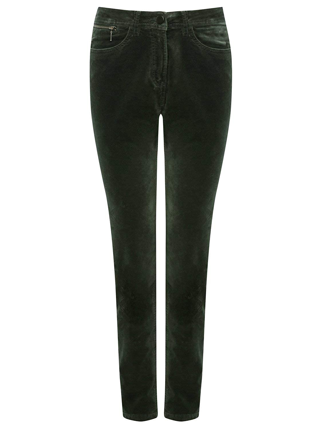 M&Co Ladies Full Length Slim Fit Velveteen Trousers