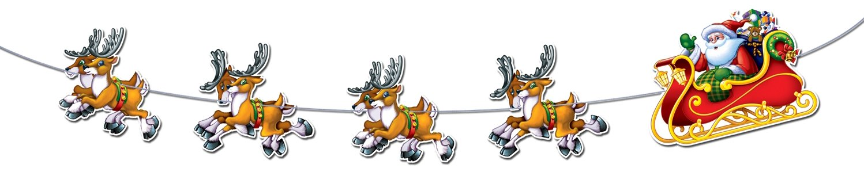 8-Feet Two-Pack Beistle Santa and Sleigh Streamer