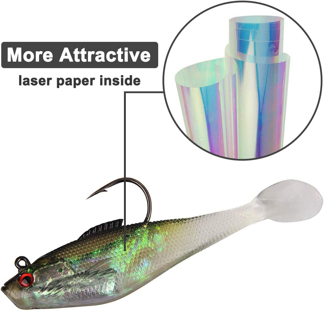 Details about  /Swim Silicone Artificial Soft Bait Worm Barbed Hook Lead Jig Head Fish Eel Lure