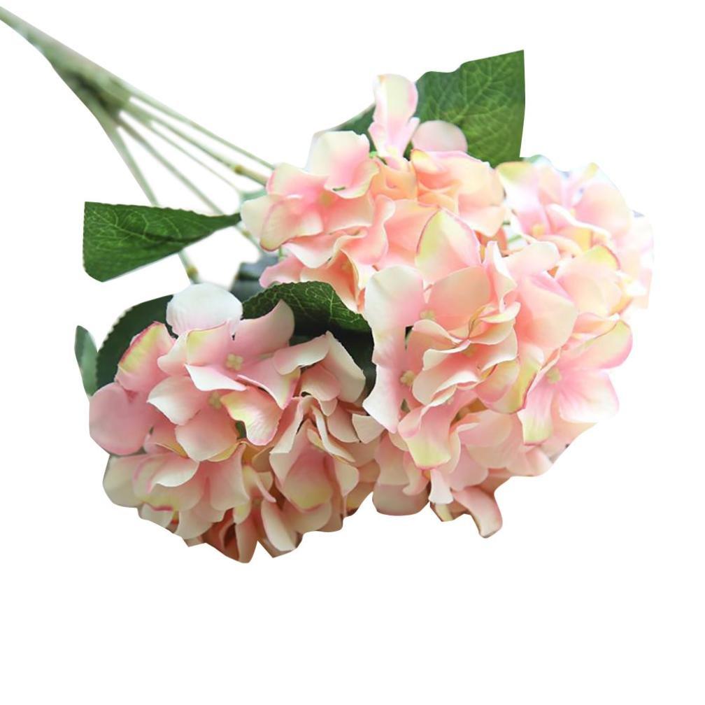 人工フェイク花シルク、cywulin Hydrangea FauxプラスチックHydrangea Floral Bouquet Decor Craft For Wedding Bouquet家オフィス庭Inddorアウトドア free size ピンク DLP08166384 B0753FF2LX ピンク