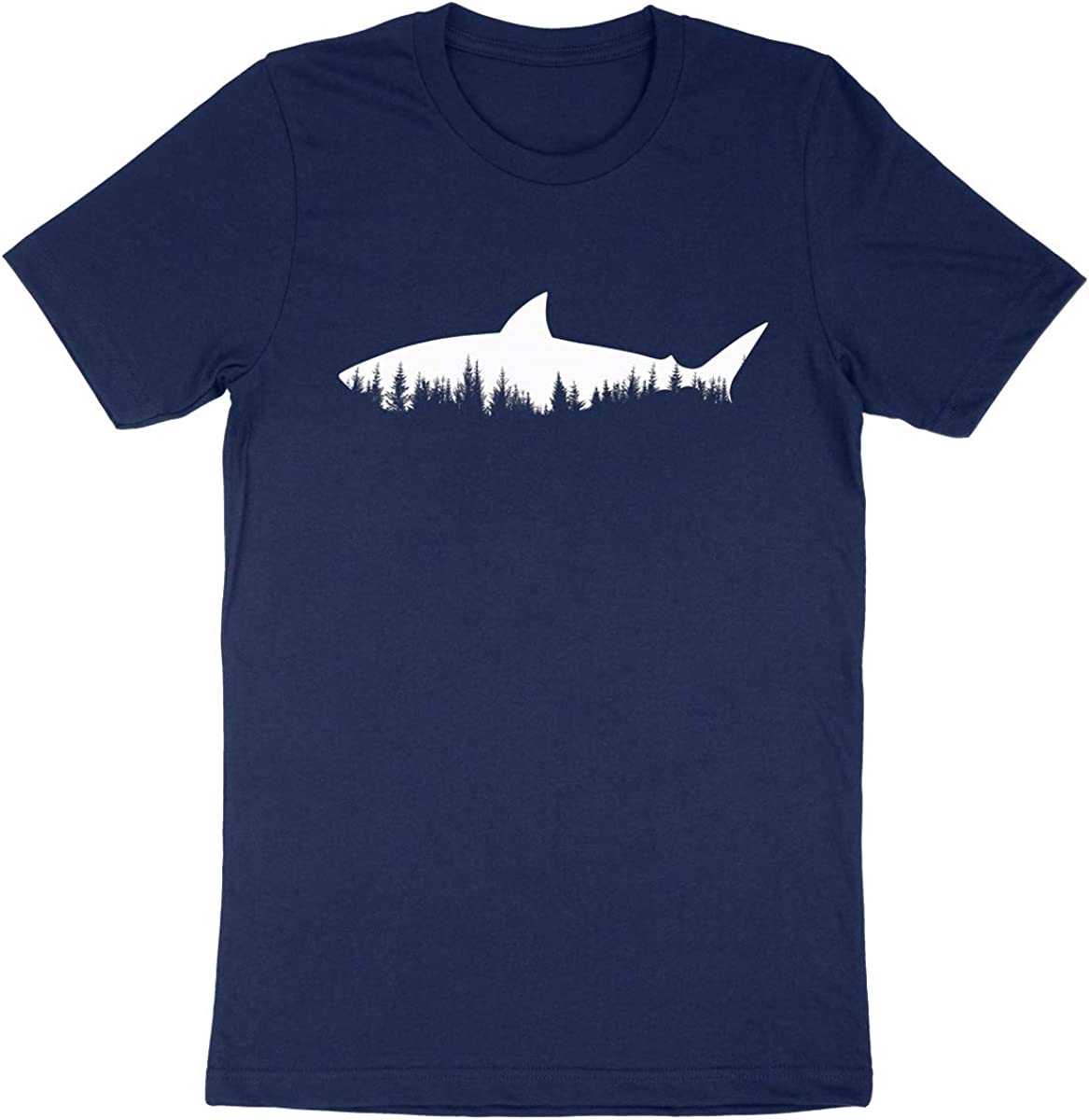 Shark x Forest T-Shirt Mens Graphic Design Shirts