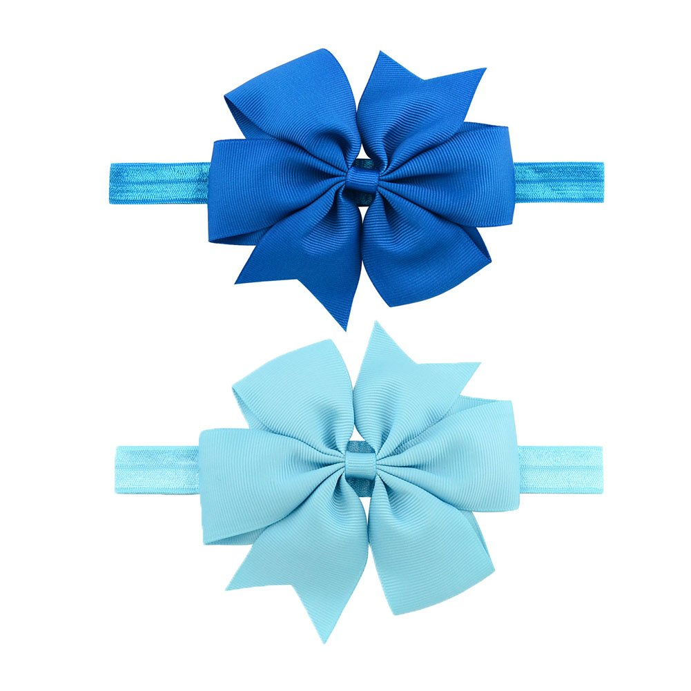 LQSmile Baby Girl's Beautiful Elastic Hair Hoops Headbands with Hair Bow for Take Photograph by LQSmile (Image #6)