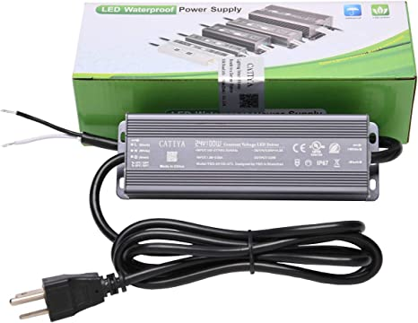 Catiya 24v 100w Led Driver Transformer Ip67 Waterproof Constant Voltage Power Supply For Led Landscape Lighting Amazon Com