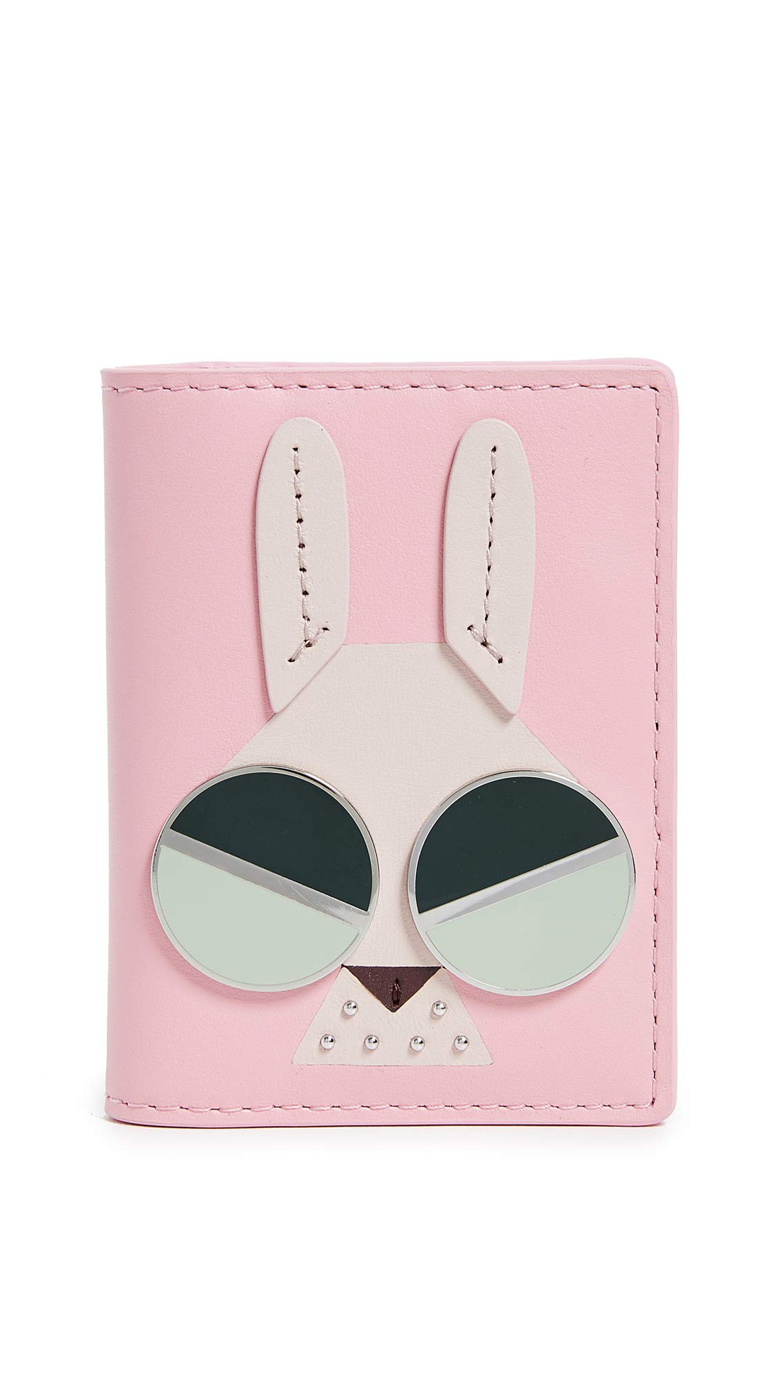 Kate Spade New York Women's Spademals Money Bunny Bifold Card Case, Rococo Pink, One Size