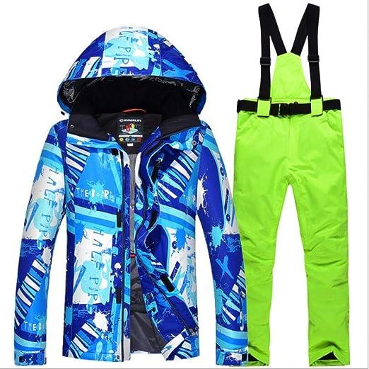 AQWWHY Chaqueta de esqu/í de los Hombres / Chaqueta de Nieve y Pantalones de Alta tecnolog/ía a Prueba de Viento Impermeable