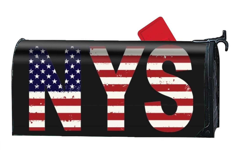 WilBstrn Newyork City American Flag Seasonal Mailbox Covers,Unique Magnetic Mailbox 9'''' W x 21'''' L