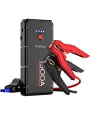 Car Jump Starter, 1500A Peak Trekpow By ABOX 12V Auto Battery Booster Power Pack with Smart Jumper Cable for All Gasoline/6.5L Diesel Engine, QC3.0, Type-C Input&Output, LED Flashlight