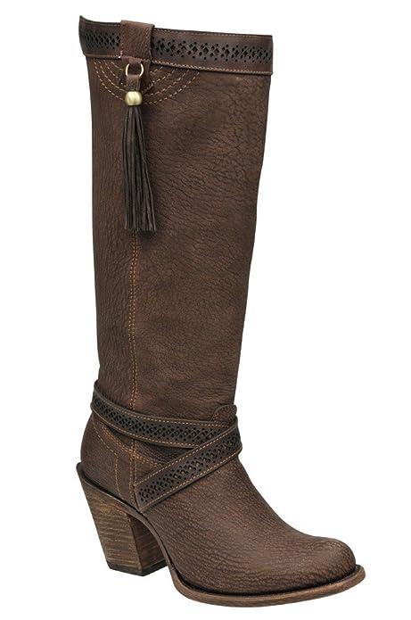 Botas Vaqueras de Dama en Piel de Cordero Cuadra  Amazon.es  Zapatos y  complementos b7c3b07a16578