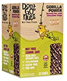 Don't Go Nuts Nut-Free Organic Snack Bars, Gorilla Power, Chocolate Chip Granola, 22 Count