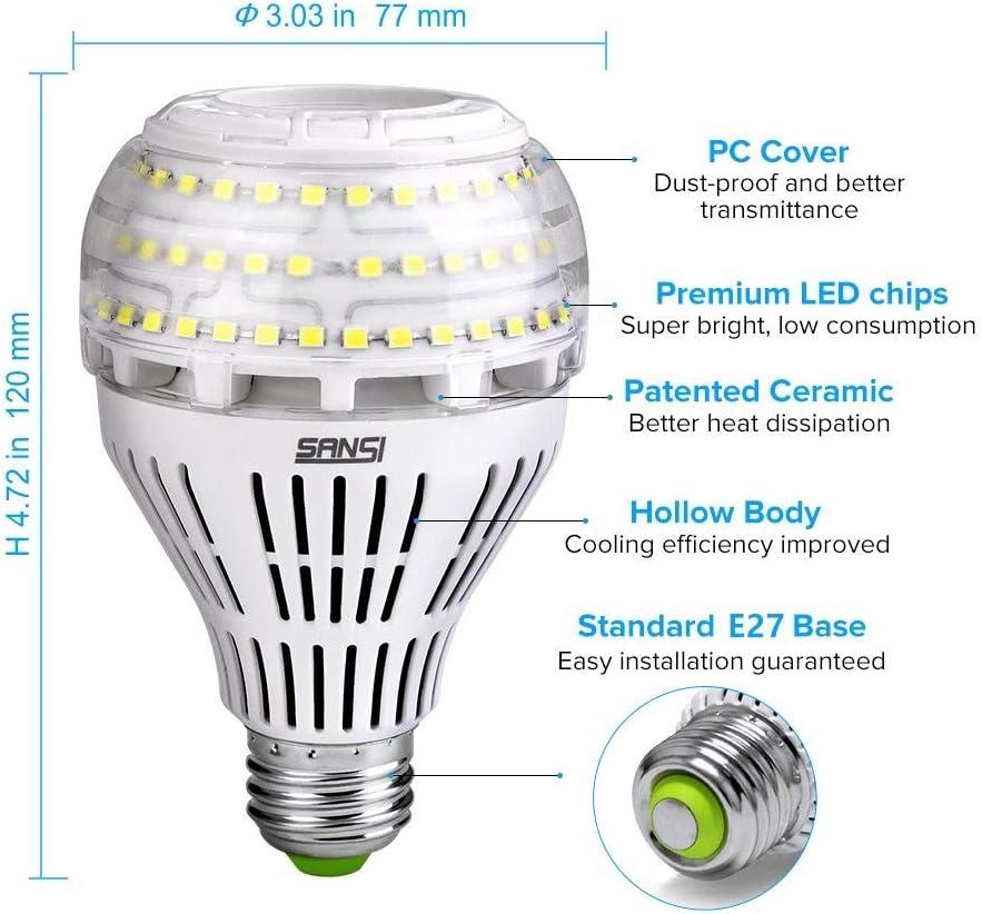 Sansi Ampoule Led Dimmable Ampoule Edison 4000 Lumen 27w 250w Incandescence équivalent Ampoules Basse Consommation Led 5000k Lumière Du Jour