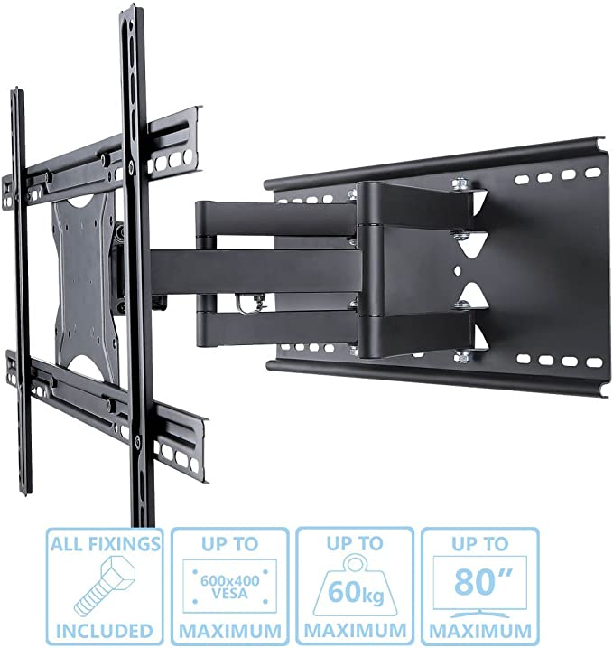 Premium Slim Cantilever Soporte de pared para televisor para curva ...