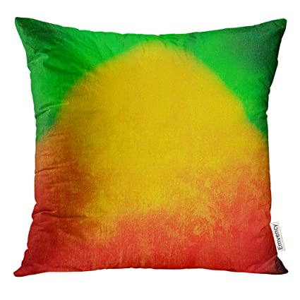 Amazon Com Emvency Throw Pillow Cover Colorful Jamaica Reggae Green