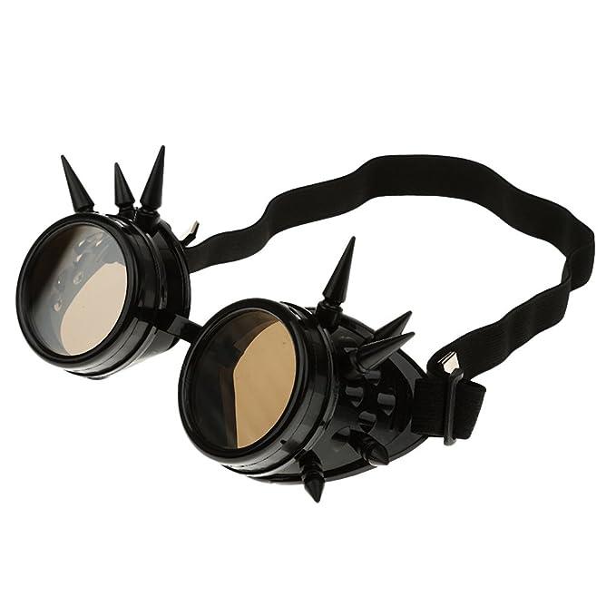 Moda Gafas De Sol Soldador Steampunk Gótico Picos Cosplay Vasos De Plata De época Para Mujer Hombre Unisex: Amazon.es: Ropa y accesorios