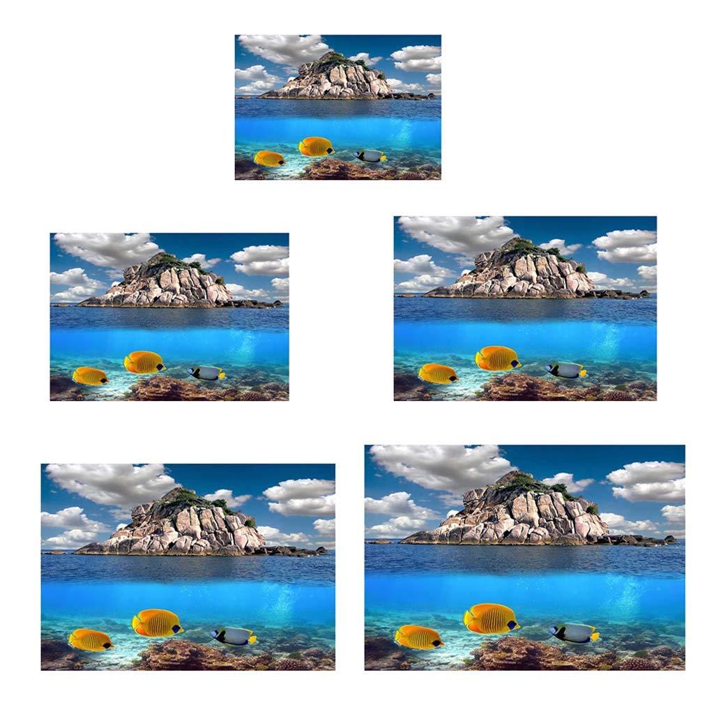 B Blesiya P/óster Tel/ón de Fondo Pegatinas 3D Complimentos Pecera Acuario Plantado F/ácilmente C/ómodo XS