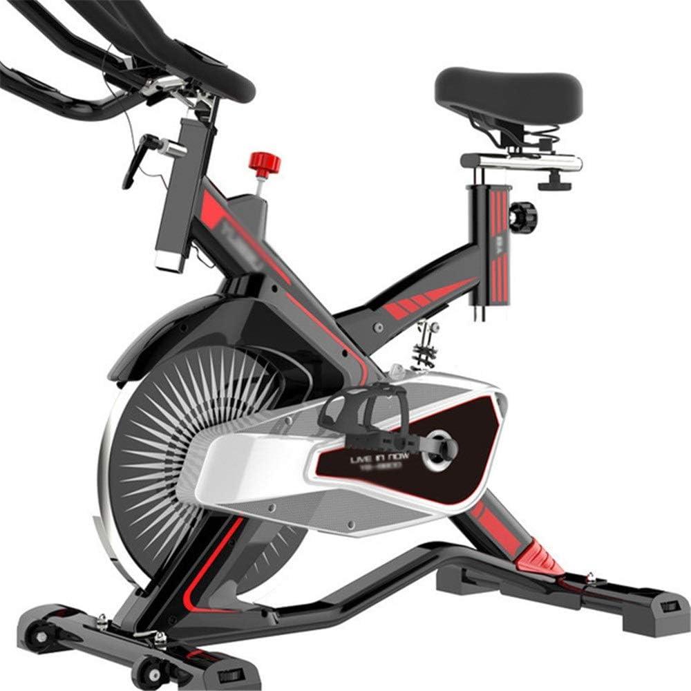 スピンバイク 静音 フィットネスエクササイズマシンとトレーニングコンピュータと楕円クロストレーナーと磁気エクササイズスピニングバイク (色 : 赤, サイズ : Free Size) 赤 Free Size