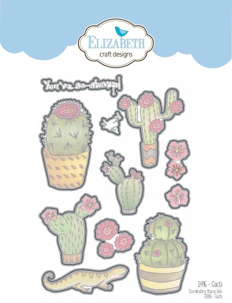 Elizabeth Craft Clear Stamps-Cacti