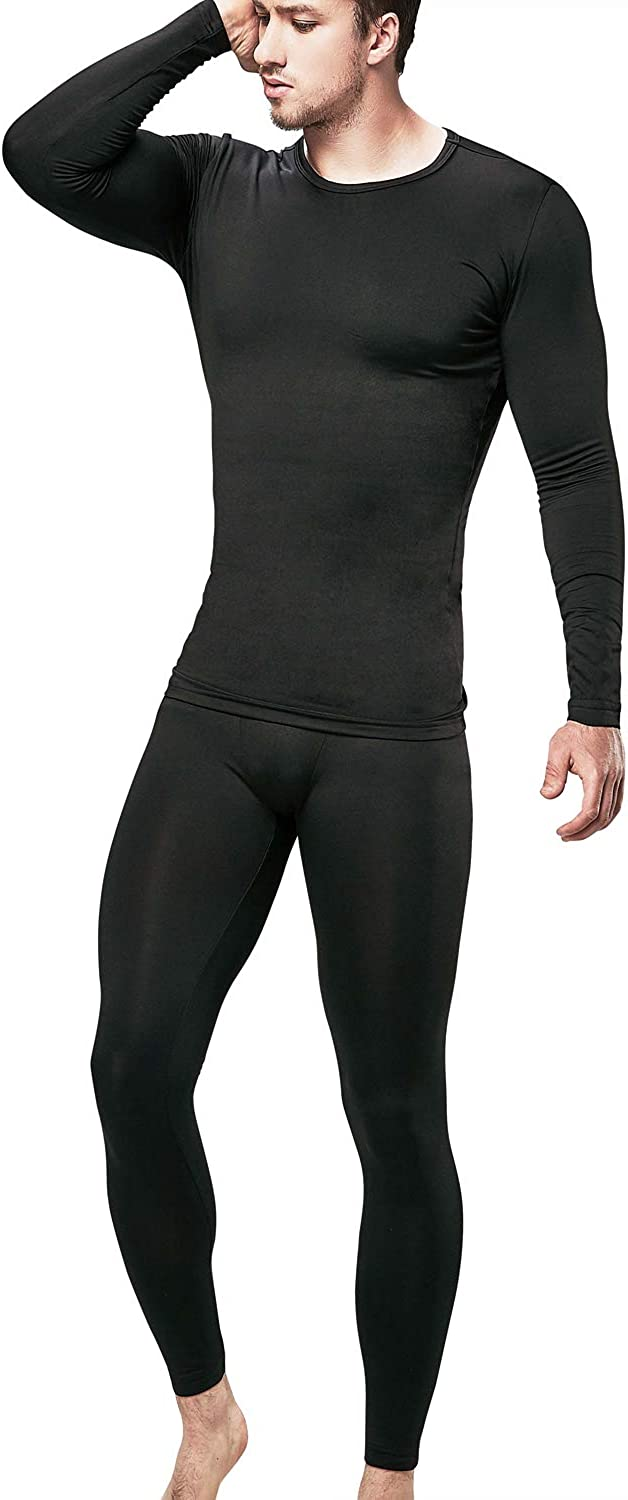 DEVOPS Men's Thermal Underwear Long Johns Set with Fleece Lined at Amazon Men's  Clothing store