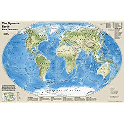 National Geographic: The Dynamic Earth, Plate Tectonics Wall Map (Poster Size: 36 x 24 inches) (National Geographic Reference Map)