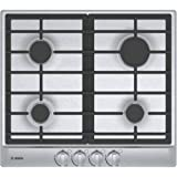 """Bosch NGM5455UC 24"""" 500 Series Gas Cooktop with 4 Sealed Burners Centralized Push-to-Turn Knobs Automatic Electronic Re-Ignition and Low-Profile Design in Stainless"""