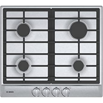Bosch NGM5455UC 24u0026quot; 500 Series Gas Cooktop With 4 Sealed Burners  Centralized Push To